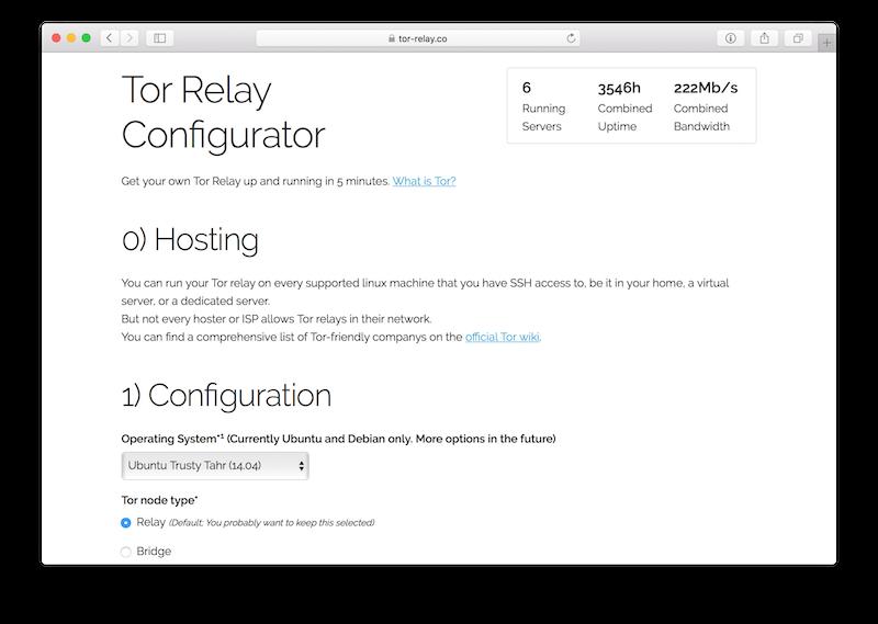 screenshot of tor-relay.co homepage